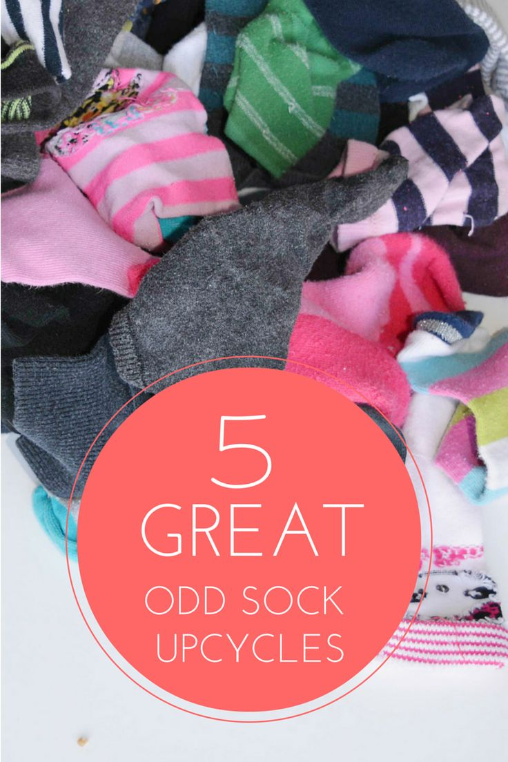 upcycle your odd socks into some fun new creations - 5 great odd sock upcycles