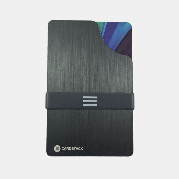 Cardstack Edge (Grey) slim, minimalist and RFID blocking wallet.