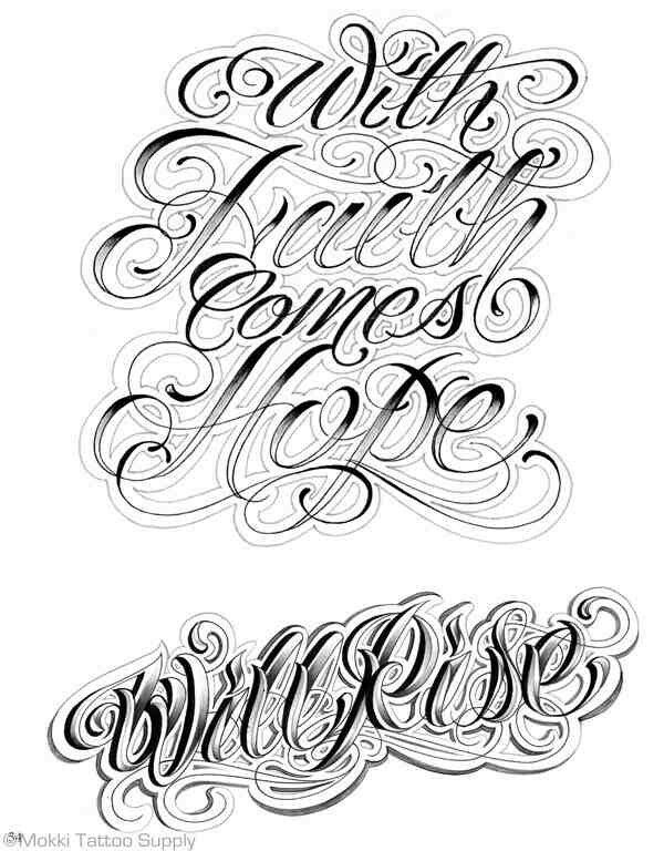 Old School Gangster Letters Easy Old English Font Tattoos Text Designs Tattoo | Pin It To Win It