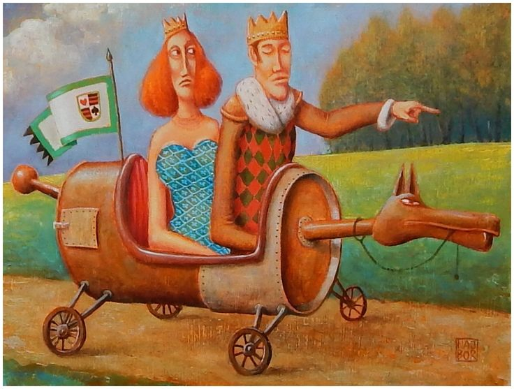 ArtGalery ° PERSONALART.PL tytuł/title: King and Queen are riding, author: Wiktor Najbor https://www.personalart.pl/wiktor-najbor