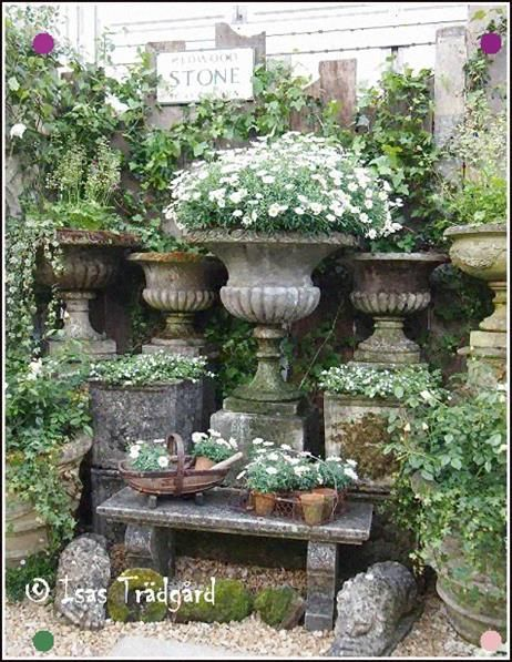 One can never have such a large number of urns .particularly when they resemble … – court yards