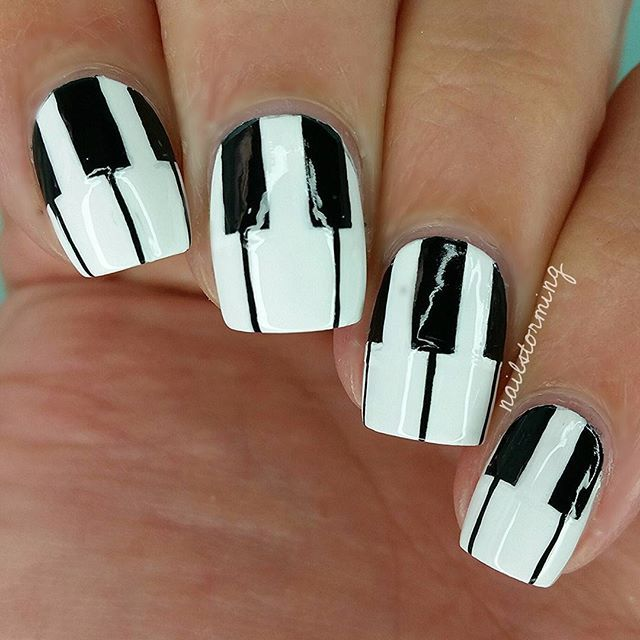 Instagram media nailstorming - Piano #nail #nails #nailart