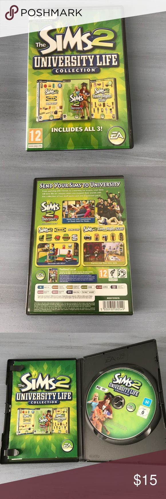 The Sims two university life collection The Sims 2 university life collection Game Other