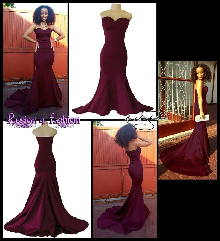Burgundy boob tube soft mermaid matric dance dress. Sweetheart boob tube with a train. #mariselaveludo #matricdance #passion4fashion #matricdress #fashion #softmermaid #promdress #burgundydress #eveningdress