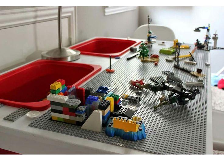 Lego Tisch Bauen Dekoration Bild Idee