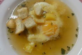 Jak uvařit česnečku s vejcem a sýrem | recept