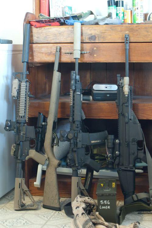 guns, rifles