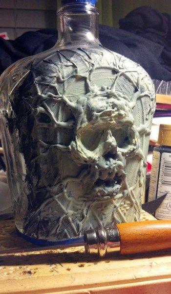 Skull Bottle in progress