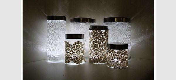 Doily lace DIY lighting