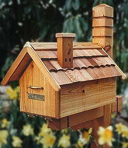 House shaped mail box