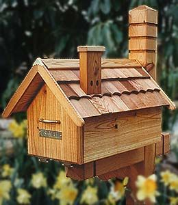 House shaped mail box