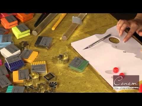 Видео с сайта http://www.kraski-kisti.ru/. Создание интересных украшений и сувениров из пластики Сонет. Мастер-класс проводит Елена Марунич - дизайнер коллек...