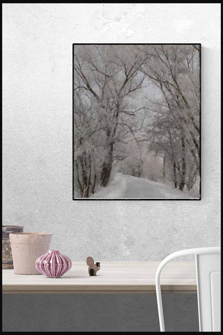 This winter scene print is a lovely piece of artwork to adorn your home office, hallway or any room of the house really.