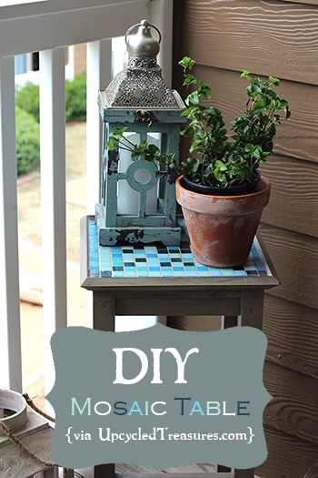 Click here for a #DIY #Mosaic #Table/Plant Stand http://upcycledtreasures.com/2013/04/diy-mosaic-table/