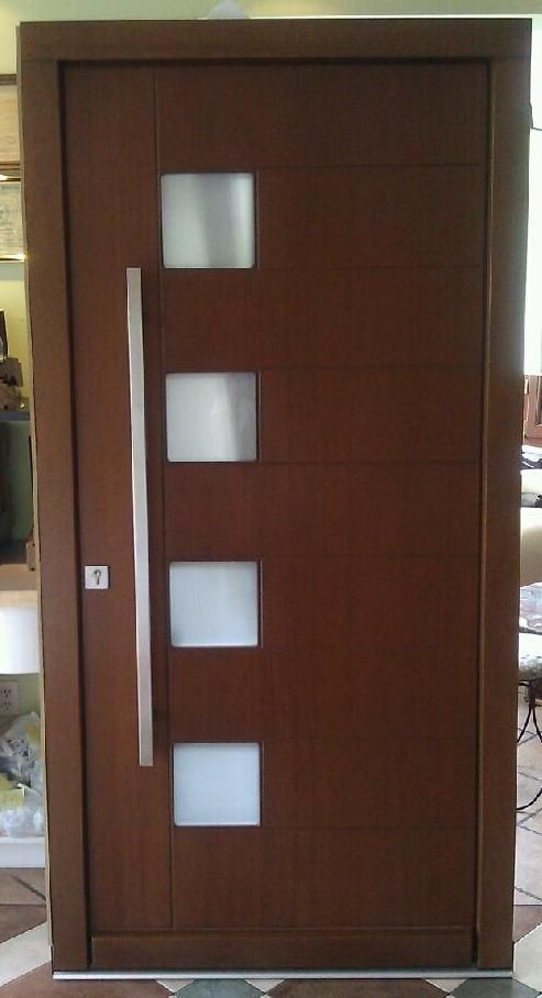 17 best images about contemporary front entry doors on pinterest models door handles and modern - What paint to use on exterior wood model ...
