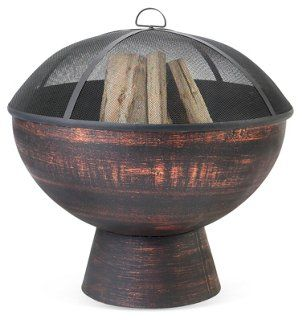"26"" Fire Bowl, Black/Bronze"