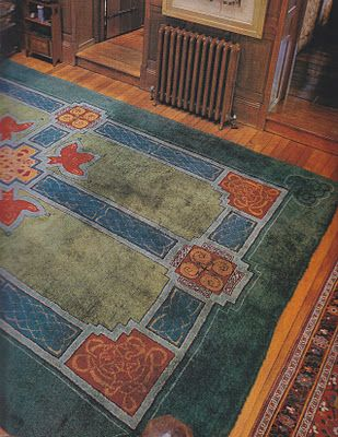 Craftsman Rug. From Arts & Crafts Carpets, page 131. This design is from 1903 and is based on the Book of Kells.