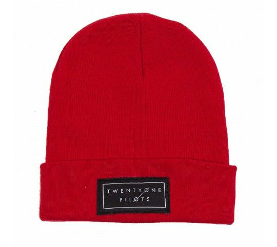 Twenty one pilots red beanie