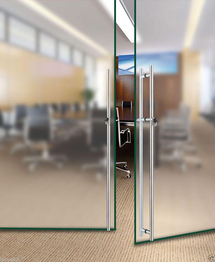 Stainless Steel Office Meeting Room Frameless Glass Door Pull Handles With Locks Frameless Glass Doors Glass Door Sliding Glass Door