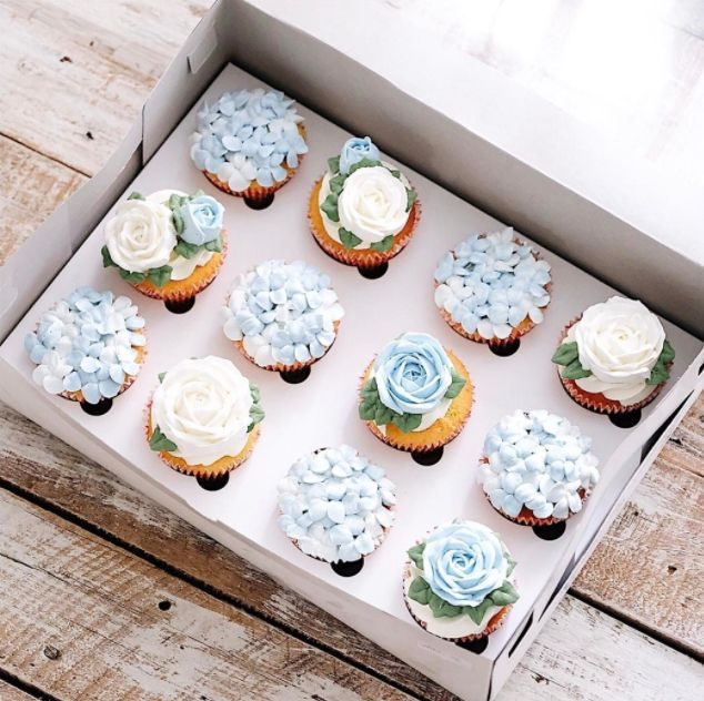 Hydrangea Cupcakes are two things we love all in one