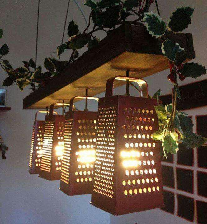 these lights are a creative diy idea for unique lighting in the kitchen if you donu0027t have cheese graters maybe pick a different appliance