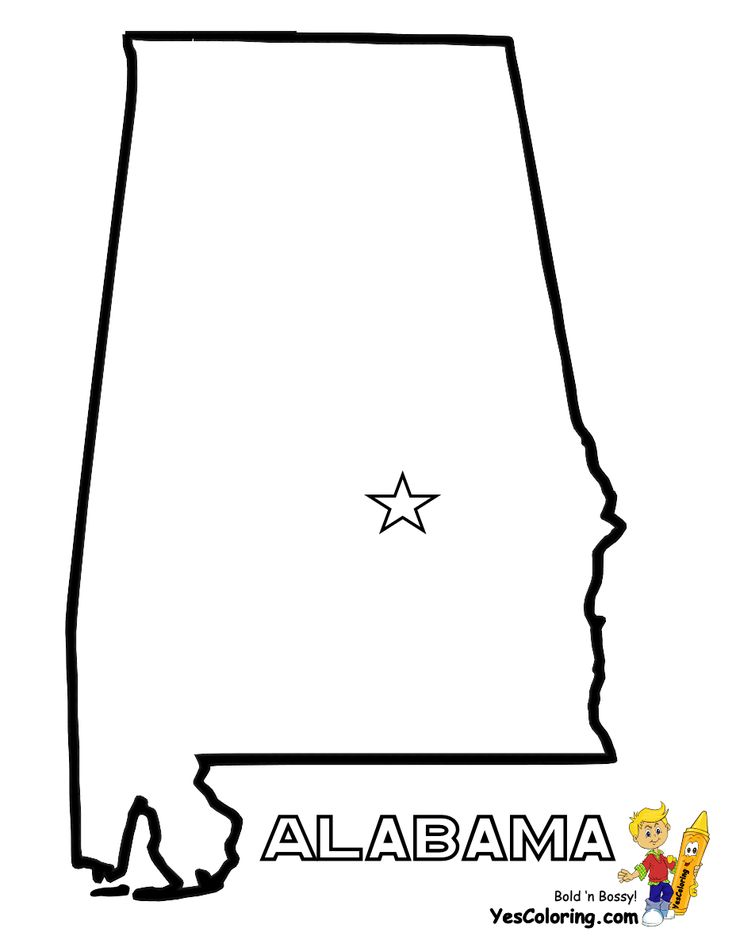 print out state map diagram for alabama at yescoloring com