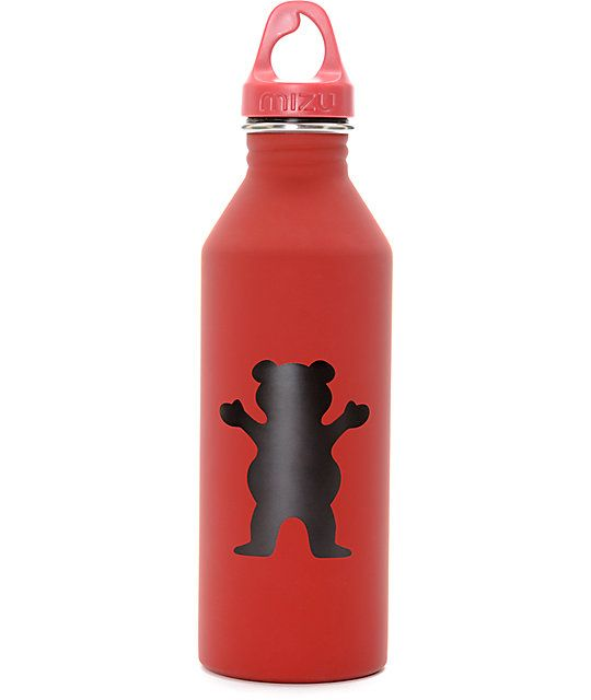 Take your drink with you in this Mizu Water Bottle from Grizzly. These well known canteens have teamed up with Grizzly to bring you their 100% BPA free, recyclable 27 oz water canteen with the flare of the Grizzly Griptape brand.