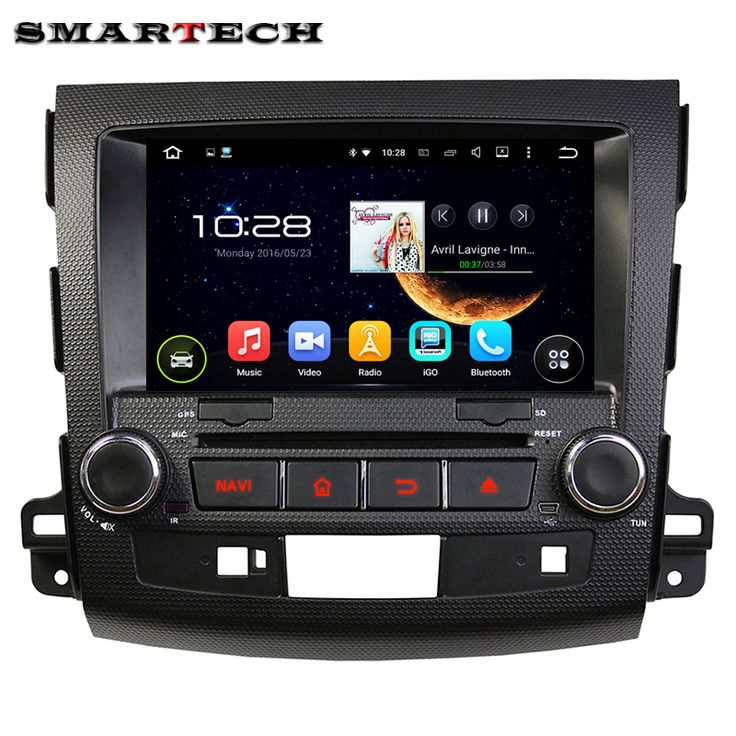 Car GPS Stereo DVD Quad Core 1024*600 Android 5.1.1 For Mitsubishi OUTLANDER XL 2006-2012 Car DVD Player GPS Navigation Headunit