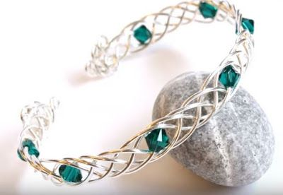 Multi Stranded Wire Braided Cuff ~ The Beading Gem's Journal ~ Wire Jewelry Tutorials