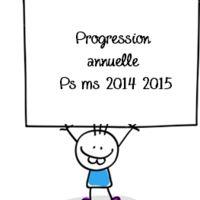 Progressions 2014 2015 année et première période petite et moyenne section