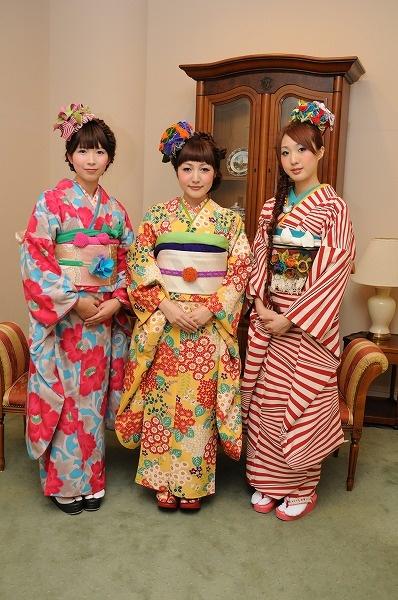 Trio of furisode girls