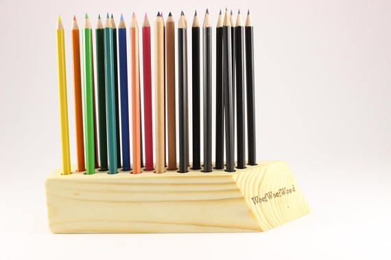 Personalized wooden pencil holder  Pen holder  Personalized