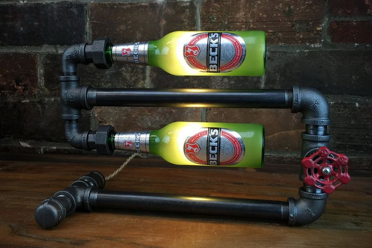 Shedding Light On Your Drinking Problem: The Industrial Beer Bottle Lamp!