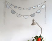 Mirror Bunting Small Half Circle Banner Garland by fluxglass. $52.00 USD, via Etsy.