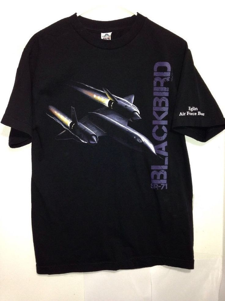 SR-71 Blackbird T-Shirt Eglin Air Force Base, Men's Medium Spy Plane