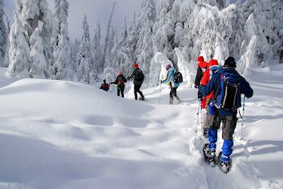 Cypress Mountain, Vancouver BC snowshoeing