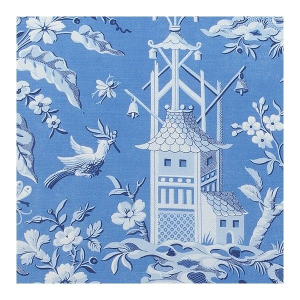 Thibaut Pagoda Garden Fabric (€70) ❤ liked on Polyvore featuring home, home improvement and fabric