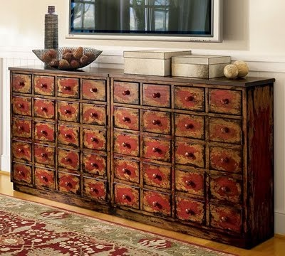 Apothecary Cabinet, Love The Worn Look And All The Drawer!