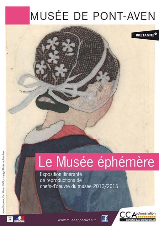Musée de Pont Aven, 3e musée en fréquentation de Bretagne, en travaux 2013-2015, exposition hors les murs, dans 9 communes de la comcom dont il dépend depuis juin 2012