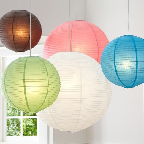 Round Paper Lanterns | PBteenBedrooms Lamps, Lights Fixtures, Paper Lanterns, Pbteen, Pendants Lights, Chine Lanterns, Pb Teen, Pottery Barns, Round Paper