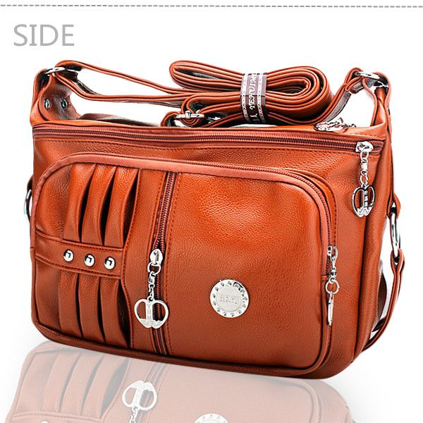 Women PU leather Handbag Pillow Leisure Shoulder Crossbody Bags - US$17.67