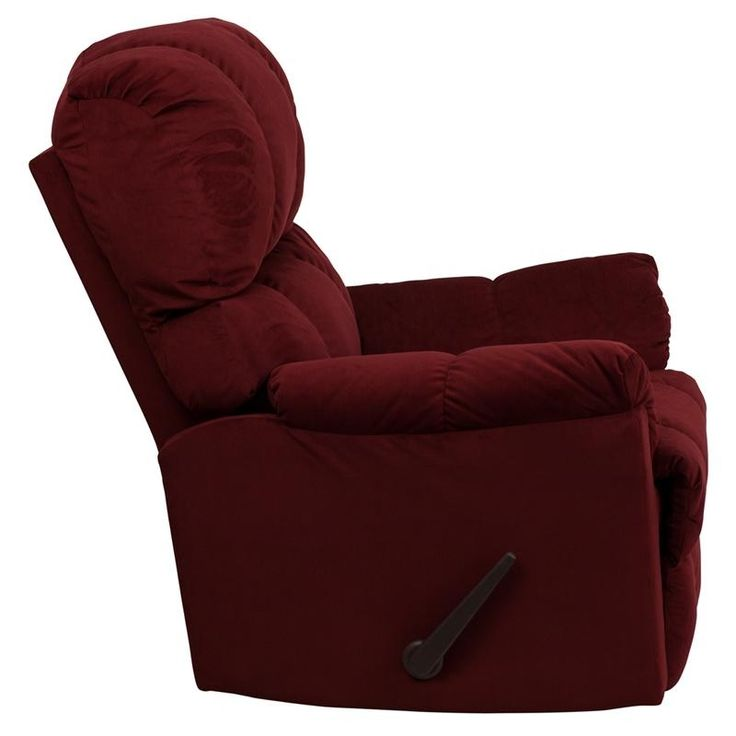 Microfiber Recliner - Stylish and Comfortable Rocker Recliner Berry Red colored Microfiber upholstery #recliner #  sc 1 st  Pinterest & 111 best STYLISH RECLINERS images on Pinterest | Office chairs ... islam-shia.org