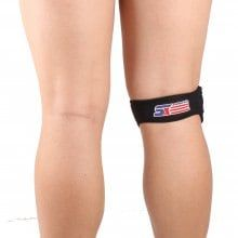 Shou Xin SX540 Patella Belted Adjustable Sports Knee Brace - Black