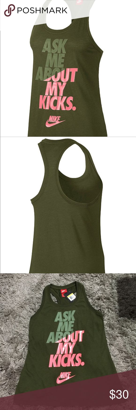 Nike Razorback Tank Comfy and casual razorback tank. New with tags Nike Tops Tank Tops
