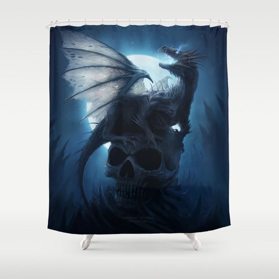 17 best images about a fantasy filled home on pinterest for Fantasy shower curtains