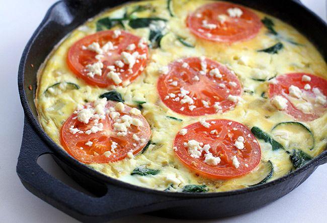 Tomato, Spinach & Feta Frittata | Food.Salty | Pinterest