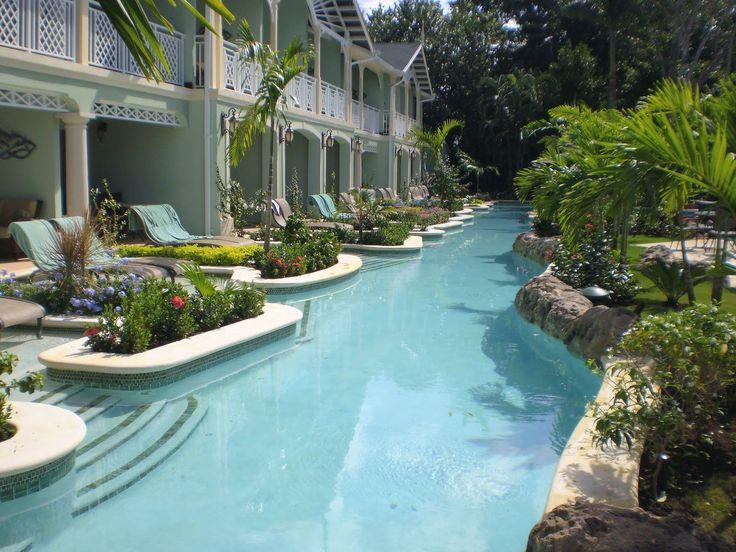 Swim up rooms at Sandals Royal Caribbean resort in Jamaica.