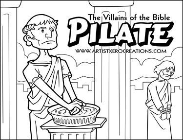 The Villains Of Bible Pilate Coloring PagesColoring SheetsYouth