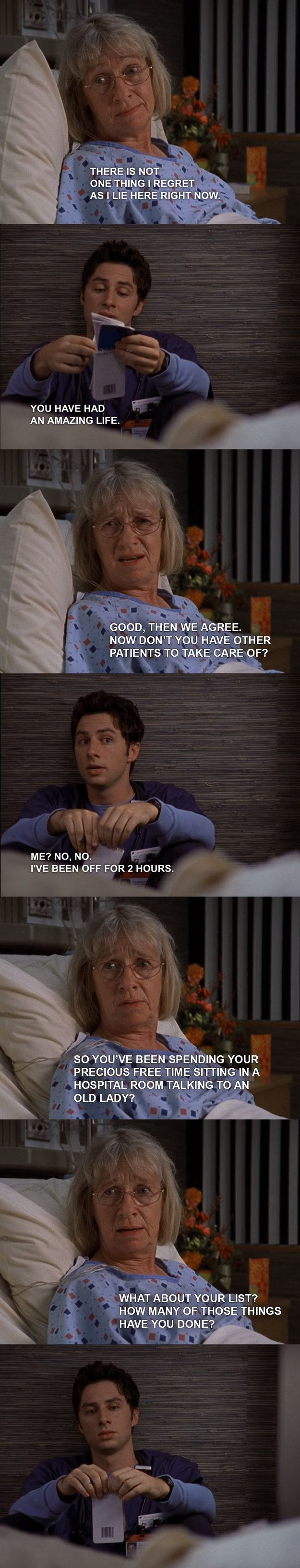 """When JD wasn't ready to let Mrs. Tanner go.   14 Times """"Scrubs"""" Made You Cry Out Of Nowhere"""