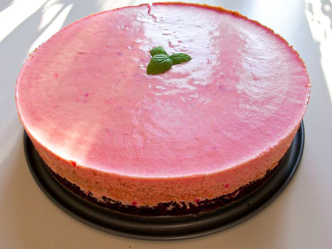 Frozen cheesecake med kladdkaka